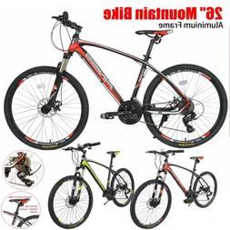 26 aluminium frame mountain bike disc brakes