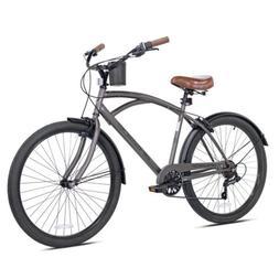 """Kent 26"""" Bayside Men's Cruiser Bike, Satin Cocoa, Handlebar-"""