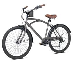 "Kent 26"" Bayside Men's Cruiser Bike, Satin Cocoa Brown Fast"