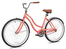 "Pedal Chic Women's 26'' Coral Crush Cruiser Bicycle, 18.75""/"