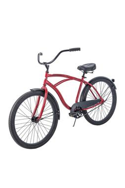 "Huffy 26"" Cranbrook Beach Cruiser Comfort Bike for Men, Red"