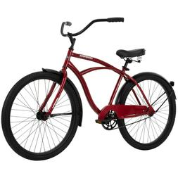 "Huffy 26"" Cranbrook Men's Beach Cruiser Bike, Red Metallic"