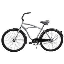 "Huffy 26"" Cranbrook Men's Beach Cruiser Comfort Bike - Silve"