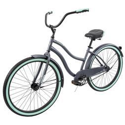 """Huffy 26"""" Cranbrook Women's Comfort Cruiser Bike Rare Gray/G"""