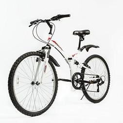 "ZOYO 26"" Folding Mountain Bike Foldable Hybrid 7 Speeds &"