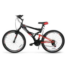 "26"" Full Suspension Mountain Bicycles 7-Speeds Shimano Shift"