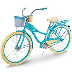 Huffy Cruiser Bike Womens, Holbrook 26 inch, Pink & Teal