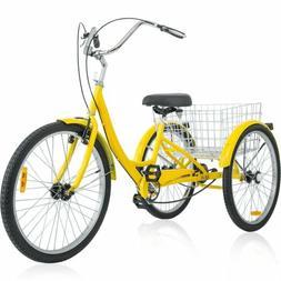 "Merax Adult 26"" 3-Wheel Tricycle Trike Bicycle Bike Cruise w"