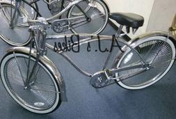 "26"" Lowrider Beach Cruiser Bike In Chrome"