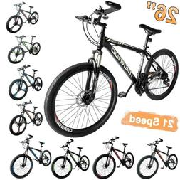 "26"" Mag Wheels Mountain Bike 21 Speed Bicycle Mens Bikes W."