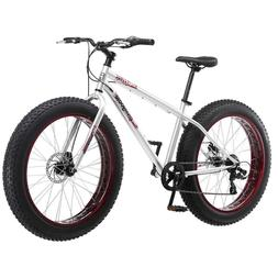 "26"" Mongoose Men's Malus 7-Speed Fat-Tire Cruiser Bicycle Si"