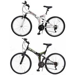 "Stowabike 26"" MTB V2 Folding Dual Suspension 18 Speed Shiman"