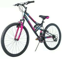 "26"" Huffy Trail Runner Womens Mountain Bike, Black and Pink"