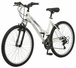 """26"""" Women Mountain Bike White Color Sports Bicycle Front Sus"""