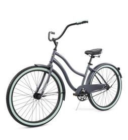 "HUFFY 26"" WOMEN'S COMFORT CRANBROOK CRUISER BIKE RARE Gray"