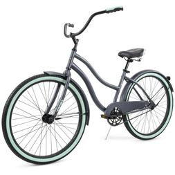 "Huffy 26"" Cranbrook Women's Comfort Cruiser Bike, Grey, FREE"