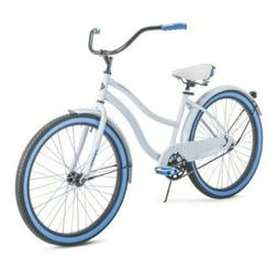 "HUFFY 26"" WOMEN'S CRANBROOK CRUISER BIKE Blue & White NEW"