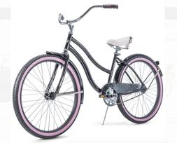 "HUFFY 26"" WOMEN'S CRANBROOK CRUISER BIKE Gray/Purple NEW I"