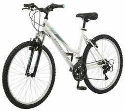 """26"""" Women's Mountain Bike,White Color, Sports Bicycle Front"""