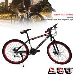 26inch 21 Speed Dual Disc Brake Damping Mountain Bike Adult