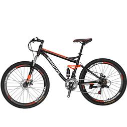 "27.5"" Full Suspension Mountain bike Mens Bikes Shimano 21"