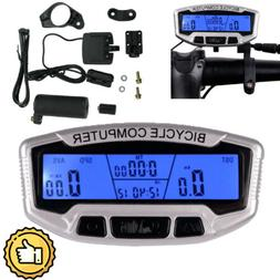 28 Functions LCD Backlight Bike Computer Odometer Bicycle Cy