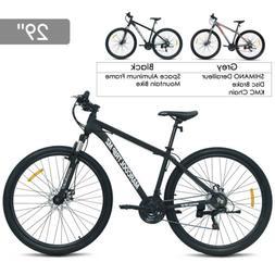 "29""Aluminum Frame Men's Mountain Bike 21 Speed Shimano Hybri"