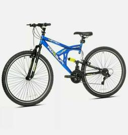 "Kent 29"" Flexor Men's Dual Suspension Mountain Bike -Blue"