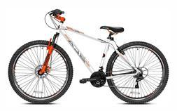 """BCA 29"""" Men's SC29 Mountain Bike White Aluminum Frame 21 Spe"""