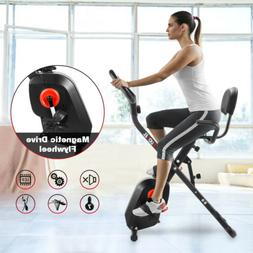 Folding Exercise Bike 8-Level Resistance Cycling Cardio Bicy