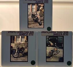 3 Vintage 1972 SUZUKI MOTORCYCLE 35mm Picture Slides