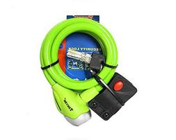 4-Digit Combination Bike Lock Cable, Green 3.8-Feet Cable Bi