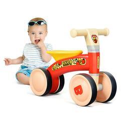 4 Wheels Kids Balance Bike No Pedal Baby Walker Toys Ride To