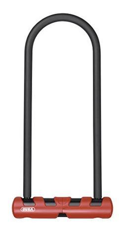 "Abus 420 Ultimate U Lock, 9""/14mm Round Diameter, Black/Red"