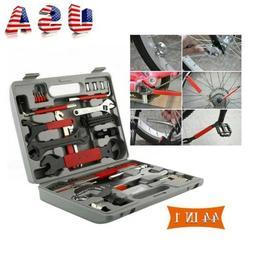 44PCS Complete Bike Bicycle Repair Tools Tool Kit Set Home M