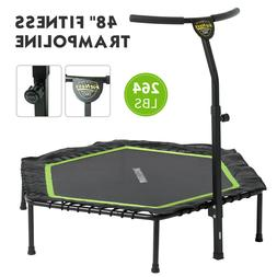 "48"" Foldable Mini Fitness Trampoline Rebounder Workout Exerc"