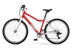 """woom 5 Pedal Bike 24"""", 8-Speed, Ages 7 to 11 Years, Red"""