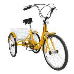 """7-Speed 24"""" 3-Wheel Adult Tricycle Bicycle Trike Cruise Bike"""
