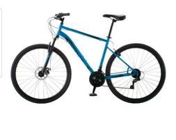 700c copeland men s hybrid bike blue