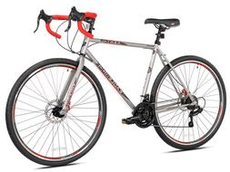 Kent 700c Men's, Eagle Ridge Adventure Gravel Bike, Silver/R