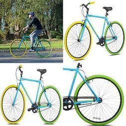 700C Mens Hybrid Bike Outdoor Sport Steel Frame Durable Ligh