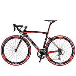 SAVADECK 700C Road Bike Carbon Fiber 50CM 18 Speed Ultra-lig