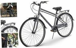 "700c Royce Union RMX Mens 3-Speed Commuter Bike, 19"" Aluminu"