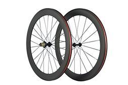Queen Bike 700c 60mm 3k Superlight Carbon Clincher Wheelset