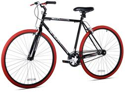 Kent 700c Thruster Fixie Men's Bike Black/Red For Height Siz