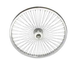 "Lowrider 20"" 72 Spoke Front Wheel 14G Chrome. Bicycle wheel,"