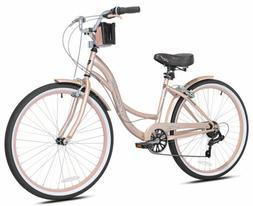 Kent Women's 26 inch Bayside Cruiser Bike Rose Gold 72653
