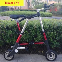 "8"" Folding Bike Aluminum Alloy Travel Lightweight Portable F"