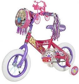 "Dynacraft Barbie Girls Mini Street Bike 12"", Pink/Purple/Whi"