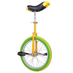 "AW Yellow Green 18"" Inch Wheel Unicycle Leakproof Butyl Tire"